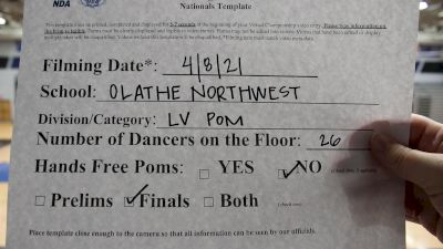 Olathe Northwest High School [Virtual Large Varsity - Pom Finals] 2021 NDA High School National Championship
