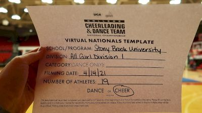 Stony Brook University [Virtual All-Girl Division I Semi Finals] 2021 UCA & UDA College Cheerleading & Dance Team National Championship