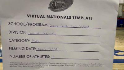 Cherry Creek High School [Junior Varsity - Pom Virtual Semi Finals] 2021 UDA National Dance Team Championship