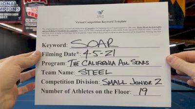The California All Stars - Steel [L2 Junior - Small] 2021 The Regional Summit Virtual Championships