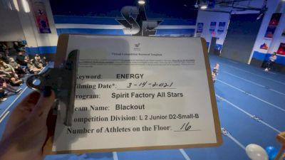 Spirit Factory - Blackout [L2 Junior - D2 - Small - B] 2021 Beast of The East Virtual Championship