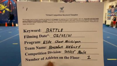Elite Cheer Michigan - Brendan_Hébert - Finals [Senior Male] 2021 Battle In The Arena