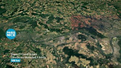 2021 Paris Nice Stage 2 Course Flythrough