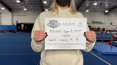Excite Gym and Cheer - Crush [L4 Senior - Small - B] 2021 NCA All-Star Virtual National Championship