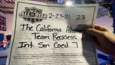 The California All Stars - Reckless [L7 International Open Coed - Small] 2021 NCA All-Star Virtual National Championship