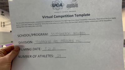 Southampton Knights [Traditional Open Rec Affiliated 14 & Younger] 2021 UCA & UDA March Virtual Challenge