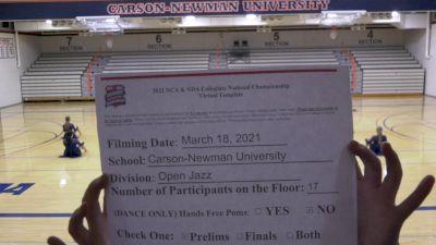 Carson-Newman University [Virtual Jazz Open Prelims] 2021 NCA & NDA Collegiate Cheer & Dance Championship