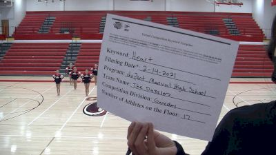 DuPont Manual High School Dazzlers [Large Varsity - Game Day] 2021 NCA & NDA Virtual February Championship