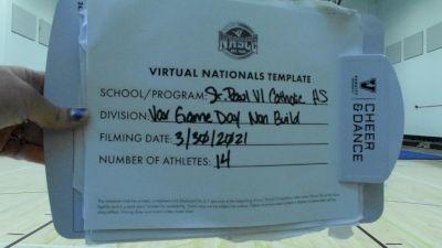 St. Paul VI Catholic High School [Virtual Game Day Varsity Non-Building Semi Finals] 2021 UCA National High School Cheerleading Championship
