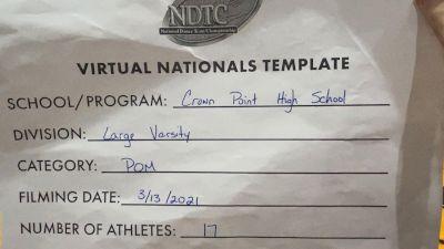 Crown Point High School [Virtual Large Varsity - Pom Finals] 2021 UDA National Dance Team Championship