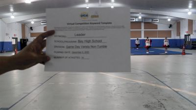 Bay High School [Game Day Varsity NonTumble] 2020 UCA North Florida Virtual Regional