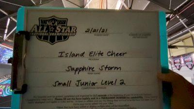 Island Elite - Sapphire Storm [L2 Junior - D2 - Small - C] 2021 NCA All-Star Virtual National Championship