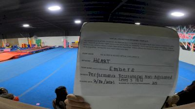 Impact Cheer Elite - EMBERS [L3 Performance Recreation - 18 and Younger (NON)] 2021Varsity Recreational Virtual Challenge III