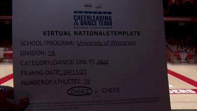 University of Wisconsin [Virtual Division IA Jazz Semi Finals] 2021 UCA & UDA College Cheerleading & Dance Team National Championship