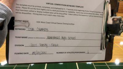 Homestead High School [Jazz Varsity - Small] 2021 USA Virtual West Coast Dance Championships