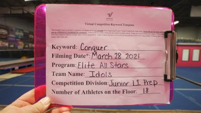 Elite All Stars - IDOLS [L1.1 Junior - PREP] 2021 Varsity All Star Winter Virtual Competition Series: Event V