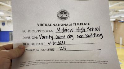 Midview High School [Varsity Non Building Game Day Virtual Semi Finals] 2021 UCA National High School Cheerleading Championship