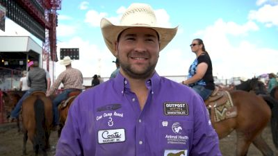 Tanner Brunner Is The One To Beat In The Steer Wrestling Average At Ponoka