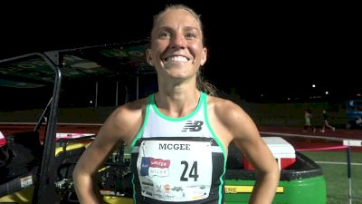 Cory McGee Thought Of Dalilah Muhammad's World Record During Sir Walter Miler Win