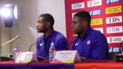Men's 100m Press Conference