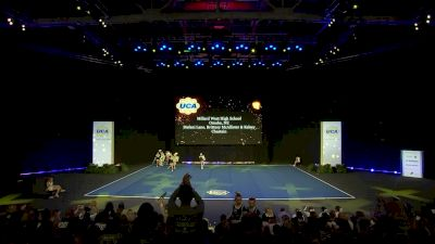 Millard West High School [2020 Small Varsity Non Building Finals] 2020 UCA National High School Cheerleading Championship