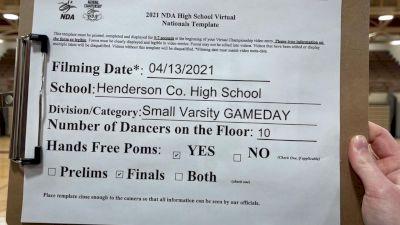 Henderson County High School [Virtual Varsity - Game Day- Small Finals] 2021 NDA High School National Championship