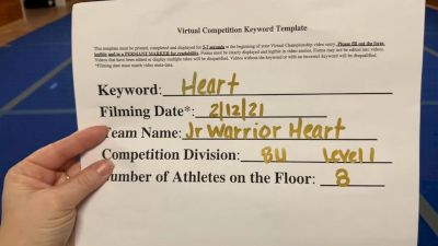 Averill Park Jr Warriors Cheer - Heart [L1 Traditional Recreation - 8 and Younger (NON)] 2021Varsity Recreational Virtual Challenge III