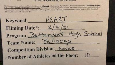 Bettendorf High School [Novice Small Varsity Game Performance] 2021 NCA & NDA Virtual February Championship