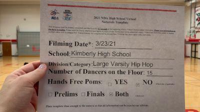 Kimberly High School [Virtual Large Varsity - Hip Hop Finals] 2021 NDA National Championship