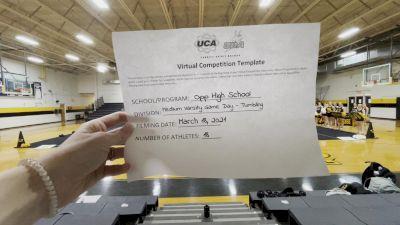 Opp High School [Game Day Medium Varsity] 2021 UCA & UDA March Virtual Challenge