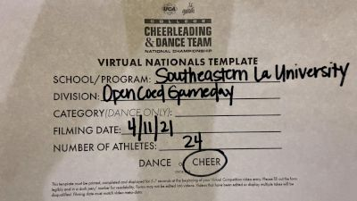 Southeastern Louisiana University [Virtual Open Coed Game Day - Cheer Semi Finals] 2021 UCA & UDA College Cheerleading & Dance Team National Championship