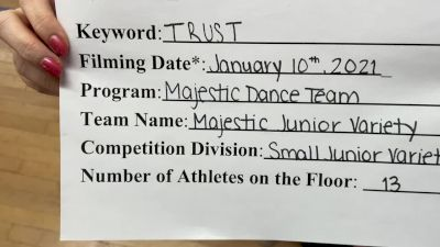 Majestic Dance Team [Junior - Variety] 2021 NCA & NDA Virtual January Championship
