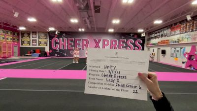 Cheer Xpress - Lady X [L6 Senior - Small] 2021 Mid Atlantic Virtual Championship