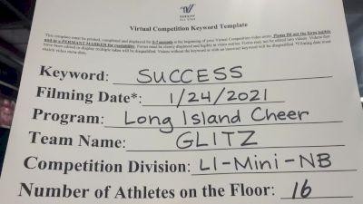 Long Island Cheer - Glitz [L1 Mini - Non-Building] 2021 Athletic Championships: Virtual DI & DII