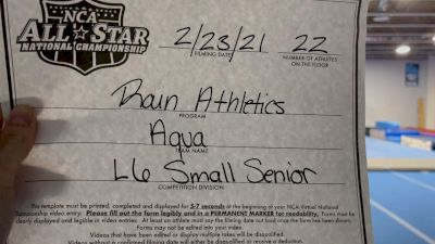 Rain Athletics - Aqua [L6 Senior - Small] 2021 NCA All-Star Virtual National Championship