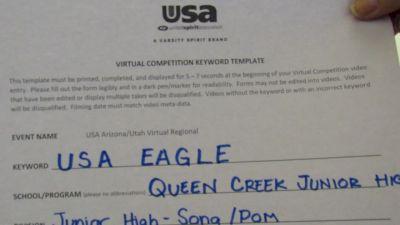 Queen Creek Junior High [Jr. High/Middle School - Pom] 2020 USA Arizona & Utah Virtual Regional