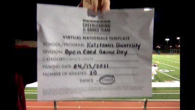 Kutztown University [Virtual Open Coed Game Day - Cheer Semi Finals] 2021 UCA & UDA College Cheerleading & Dance Team National Championship
