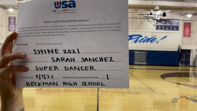 Beckman High School [Open - Solo Prelims] USA Spirit & Dance Virtual National Championships