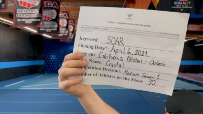 The California All Stars - Crystal [L1 Senior - Medium] 2021 The Regional Summit Virtual Championships