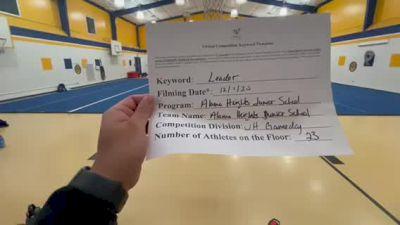 Alamo Heights JH School [Game Day Junior High] 2020 UCA Southwest Virtual Regional