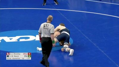 197 Quarterfinal, Michael Beard, Penn State vs Jake Woodley, Oklahoma