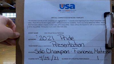 Presentation High School [Open - Solo Finals] 2021 USA Spirit & Dance Virtual National Championships