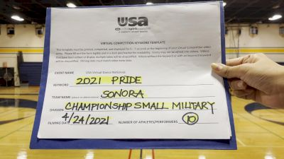 Sonora High School [Military Varsity - Small Finals] 2021 USA Spirit & Dance Virtual National Championships