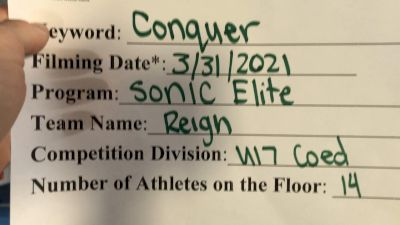 Sonic Elite All Stars - Reign [L4 - U17 Coed] 2021 Varsity All Star Winter Virtual Competition Series: Event V