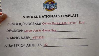 Central Bucks High School-East [Virtual Large Varsity - Game Day Semi Finals] 2021 UCA National High School Cheerleading Championship
