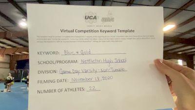 Nettleton High School [Large Non Tumbling Game Day] 2020 UCA Mid America Virtual Regional