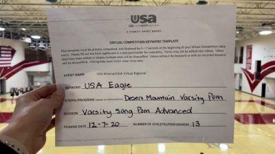 Desert Mountain High School [Varsity Song/Pom Advanced] 2020 USA Arizona & Utah Virtual Regional