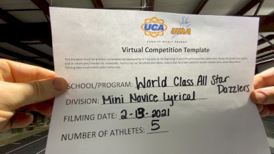 World Class All Star Dance [Mini - NOVICE - Dance] 2021 UDA Spirit of the Midwest Virtual Challenge