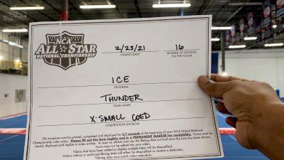 ICE All-Stars - Thunder [L6 Senior Coed - Xsmall] 2021 NCA All-Star Virtual National Championship