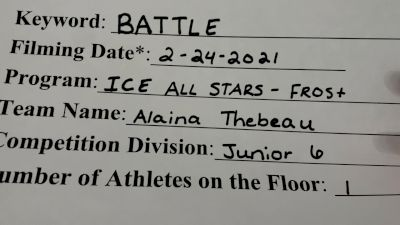 ICE - Alaina_Thebeau - Prelims [Junior Athlete] 2021 Battle In The Arena